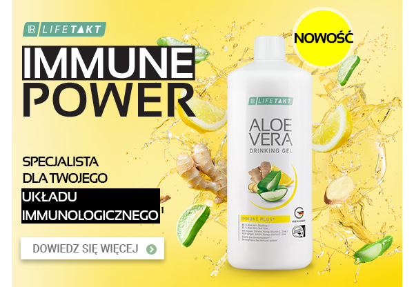 Żel do picia Aloe Vera Immune Plus z imbirem